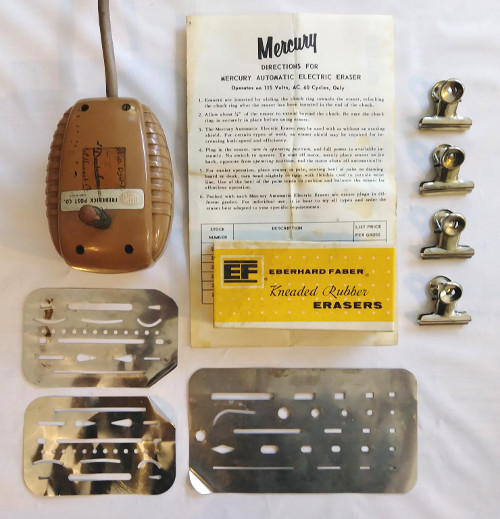Post Mercury Automatic Electric Eraser, Metal Eraser Shields, Misc. Image