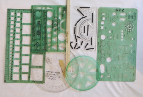Post Squares and Pickett 1610 Electronics, Assorted Templates